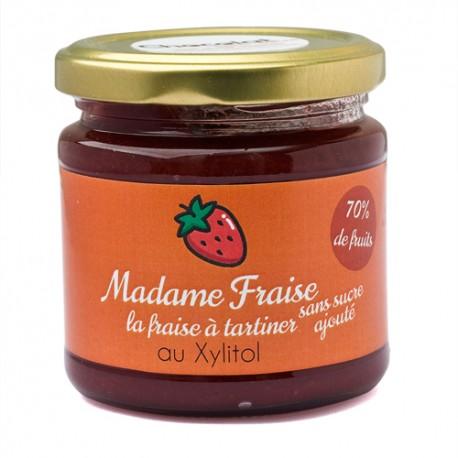 Madame fraise sans sucre ajouté