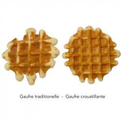 Gaufre traditionnelle sans sucre ajouté vs. gaufre croustillante sans sucre ajouté