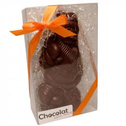 Père Noël en chocolat noir sans sucre ajouté - coffret