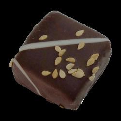 Chocolat Sésame praliné sans sucre ajouté au chocolat noir