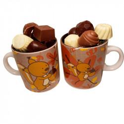 Mug Écureuil et chocolats sans sucre
