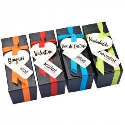 Ensemble de dégustation - 4 Ballotins chocolat sans sucre belge