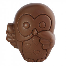 Sujet Hibou chocolat au lait - 45g