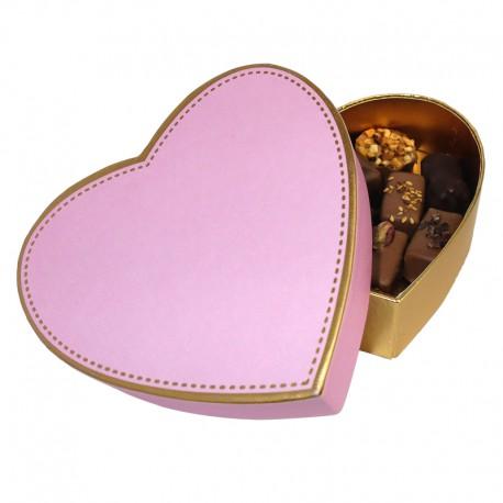 Coffret Coeur chocolat au lait et noir