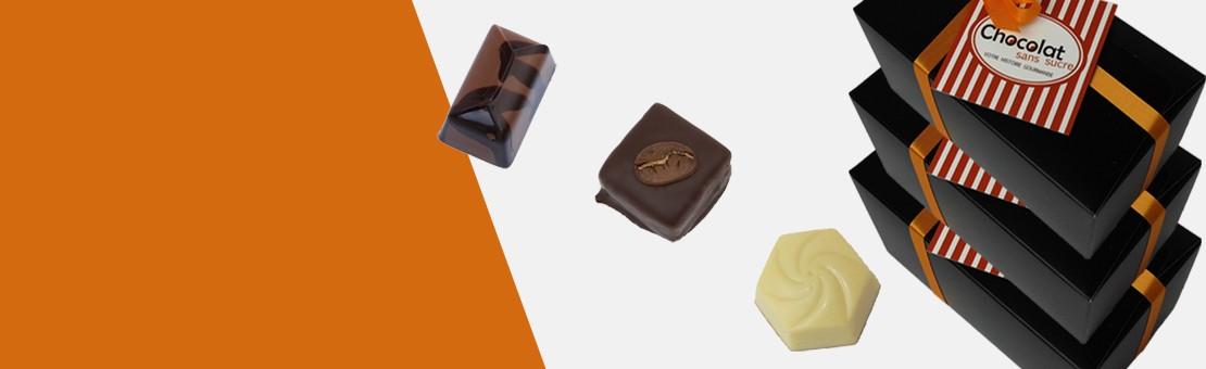 Avec l'abonnement recevez à fréquence régulière vos chocolats sans sucre ajouté